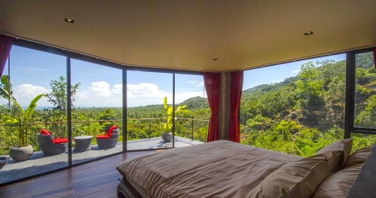 Tropical 3 Bedroom Sea View Villa in Koh Phangan-5