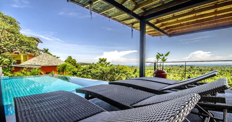 Tropical 3 Bedroom Sea View Villa in Koh Phangan-3