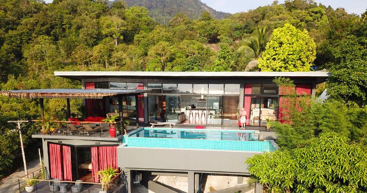 Tropical 3 Bedroom Sea View Villa in Koh Phangan-1