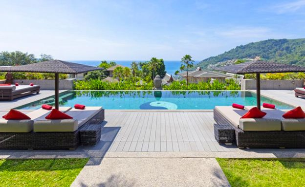Luxury 8 Bed Tropical Sea View Pool Villa in Phuket