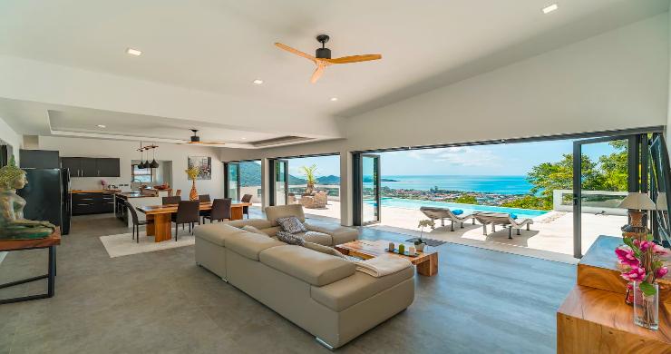 Contemporary 5 Bed Luxury Sea View Villa in Lamai-3