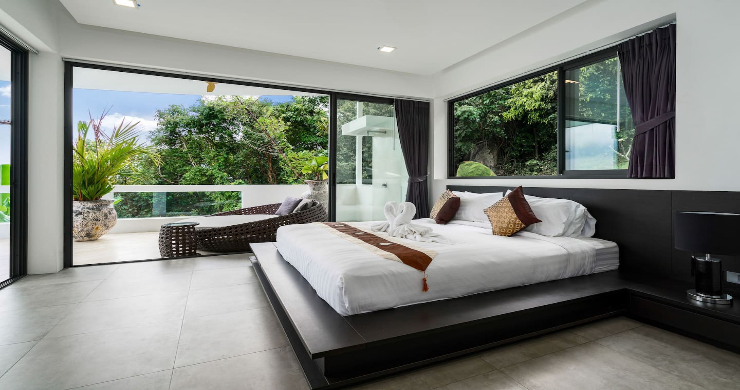 Contemporary 5 Bed Luxury Sea View Villa in Lamai-13