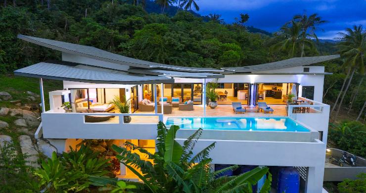 Contemporary 5 Bed Luxury Sea View Villa in Lamai-1