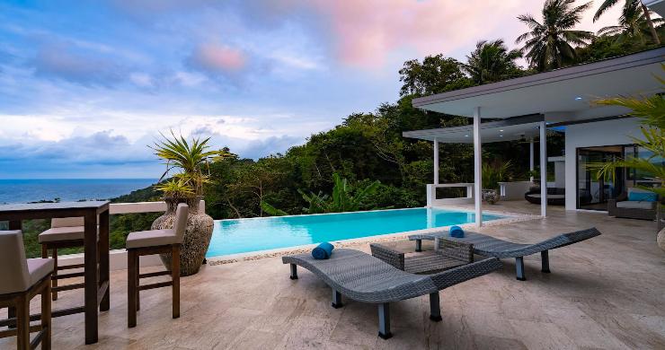 Contemporary 5 Bed Luxury Sea View Villa in Lamai-16