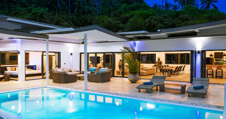 Contemporary 5 Bed Luxury Sea View Villa in Lamai-17