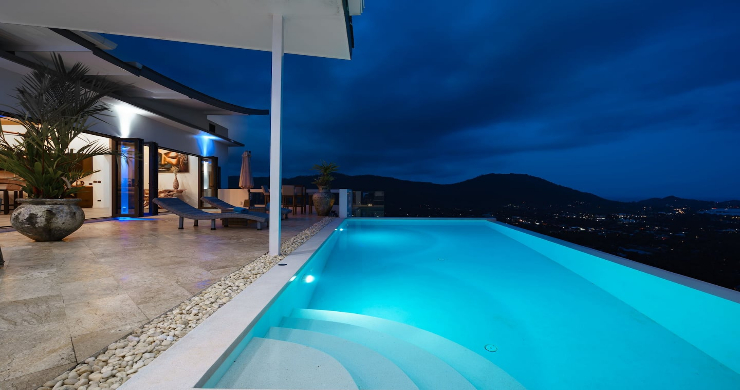 Contemporary 5 Bed Luxury Sea View Villa in Lamai-18