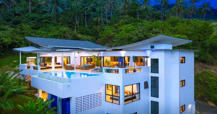 Contemporary 5 Bed Luxury Sea View Villa in Lamai-19