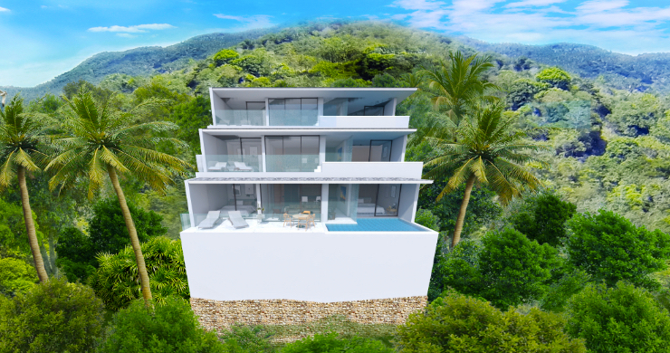 New Modern 2 Bed Sea View Pool Apartments in Lamai-12