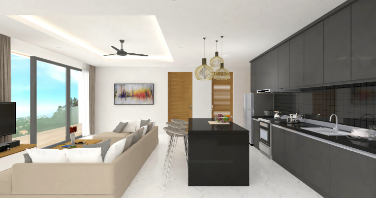 New Modern 2 Bed Sea View Pool Apartments in Lamai-4