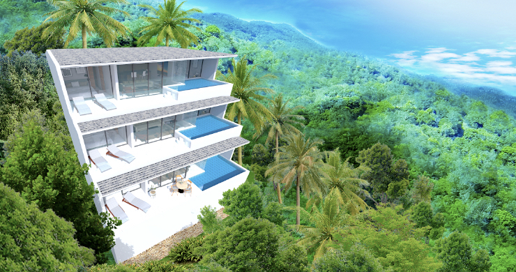 New Modern 2 Bed Sea View Pool Apartments in Lamai-11