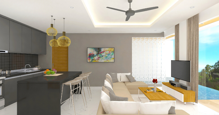 New Modern 2 Bed Sea View Pool Apartments in Lamai-5