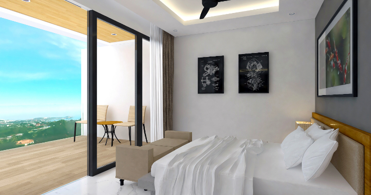 New Modern 2 Bed Sea View Pool Apartments in Lamai-7