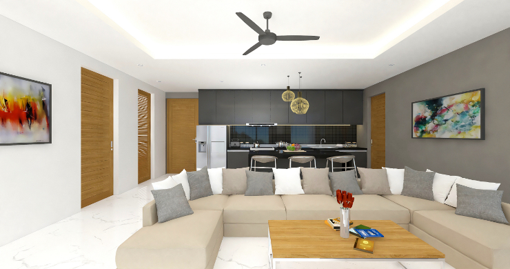 New Modern 2 Bed Sea View Pool Apartments in Lamai-3