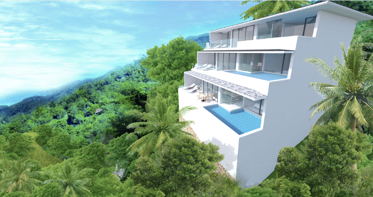 New Modern 2 Bed Sea View Pool Apartments in Lamai-1