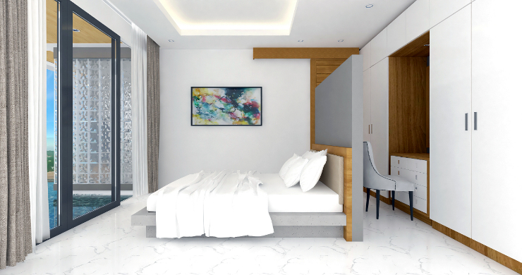 New Modern 2 Bed Sea View Pool Apartments in Lamai-9