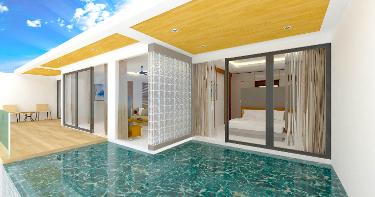 New Modern 2 Bed Sea View Pool Apartments in Lamai-2