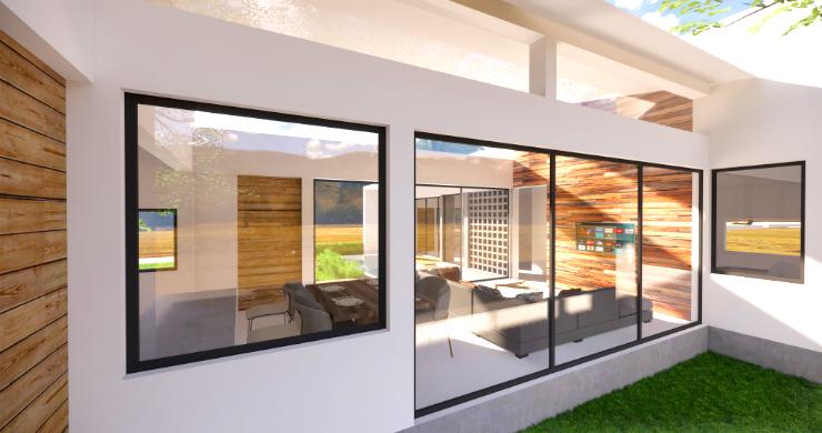 Stylish New Modern 2 Bedroom Pool Villas in Maenam-4