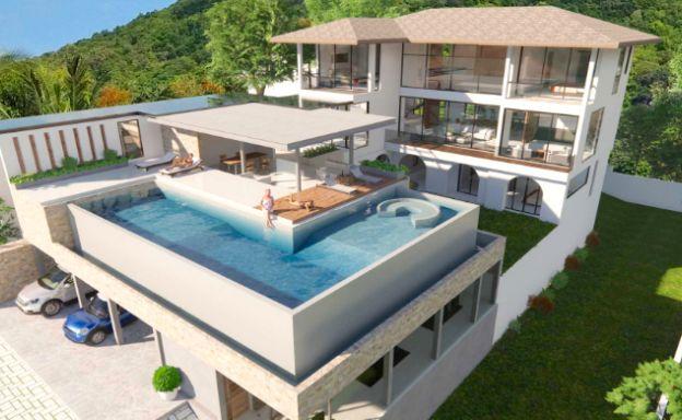 Large 7 Bed Luxury Sea-view Villa on Bangrak Bay