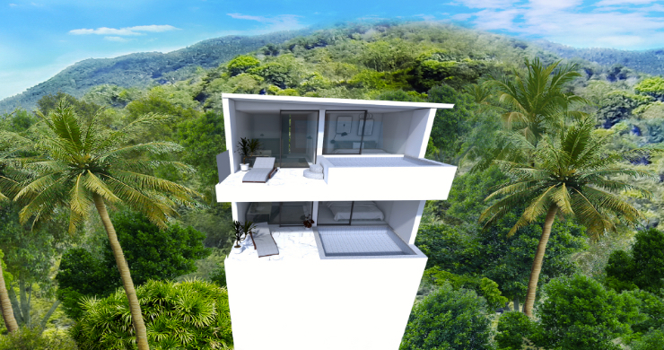 New Modern 1 Bed Sea View Pool Apartments in Lamai-11