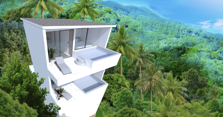 New Modern 1 Bed Sea View Pool Apartments in Lamai-10
