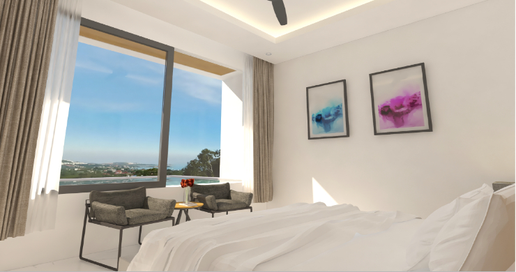 New Modern 1 Bed Sea View Pool Apartments in Lamai-7