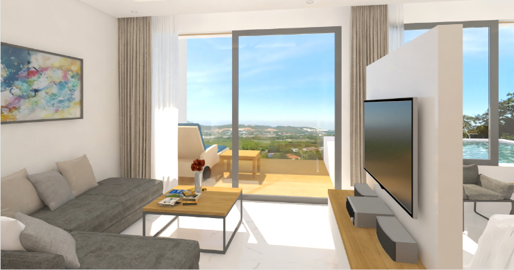 New Modern 1 Bed Sea View Pool Apartments in Lamai-1