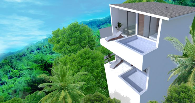 New Modern 1 Bed Sea View Pool Apartments in Lamai-6