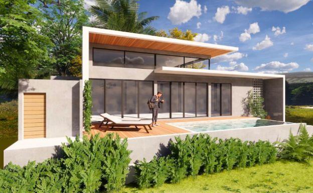 Stylish New Modern 3 Bedroom Pool Villas in Maenam