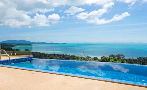 New 3-4 Bed Sunset Sea-view Villa in Ban Makham