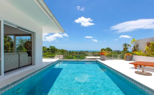 Hot Price 4 Bed Sea-view Pool Villa in Chaweng Hills