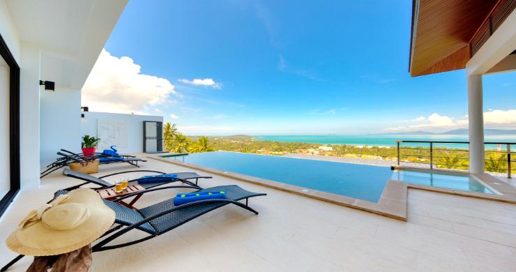 Contemporary 4 Bed Sea-view Pool Villa in Maenam-1