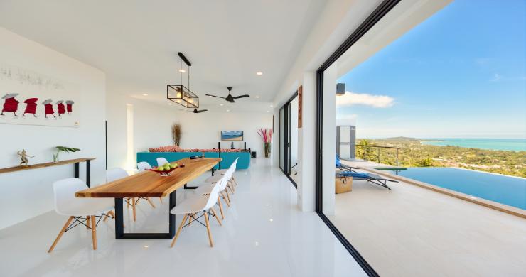 Contemporary 4 Bed Sea-view Pool Villa in Maenam-10