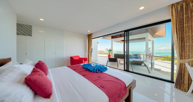 Contemporary 4 Bed Sea-view Pool Villa in Maenam-17