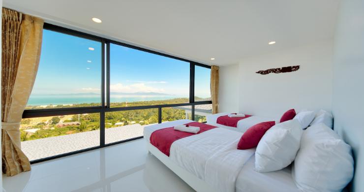 Contemporary 4 Bed Sea-view Pool Villa in Maenam-8