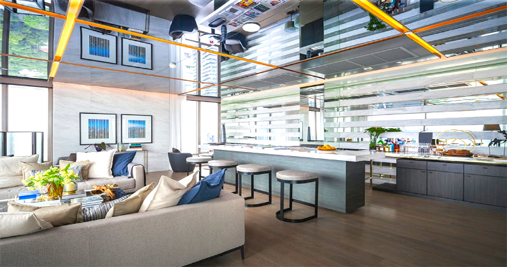Luxury 3 Bed Penthouse with City Views in Bangkok-2