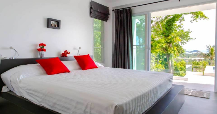 Sunset Sea-view Modern 3 Bedroom Villa in Nathon-5