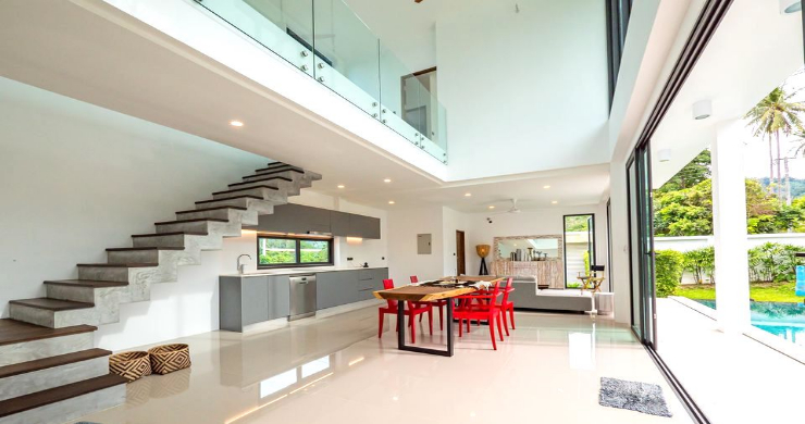 New Modern 4 Bed Pool Villa in Peaceful Maenam-2