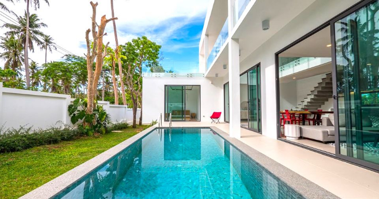 New Modern 4 Bed Pool Villa in Peaceful Maenam-3