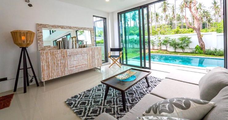New Modern 4 Bed Pool Villa in Peaceful Maenam-5