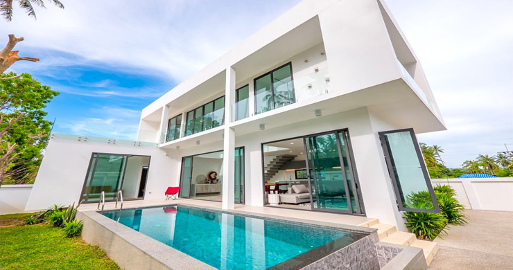 New Modern 4 Bed Pool Villa in Peaceful Maenam-1