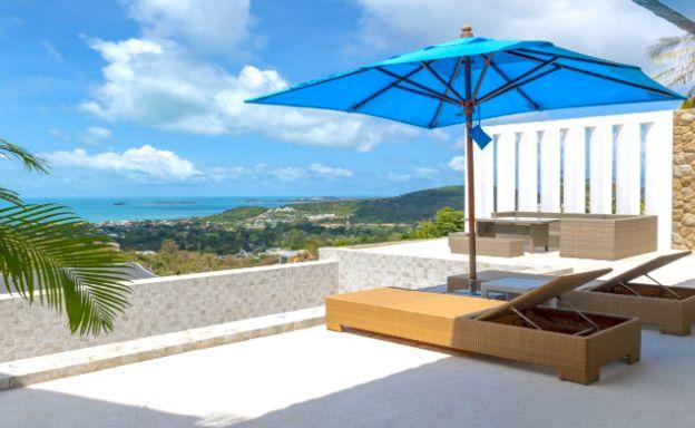 New Modern 3 Bedroom Sea-view Villa in Bophut Hills