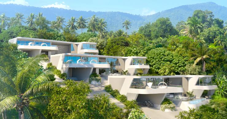 New Luxury 4 Bed Sea-view Villas in Bophut Hills-10