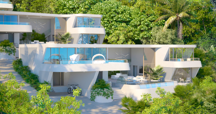 New Luxury 4 Bed Sea-view Villas in Bophut Hills-2