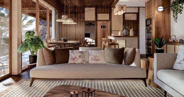 New Eco Chic 4 Bedroom Sea View Villas in Lamai-5