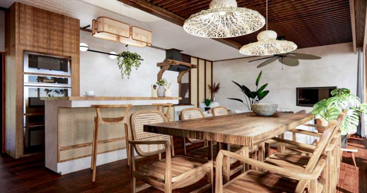 New Eco Chic 4 Bedroom Sea View Villas in Lamai-4