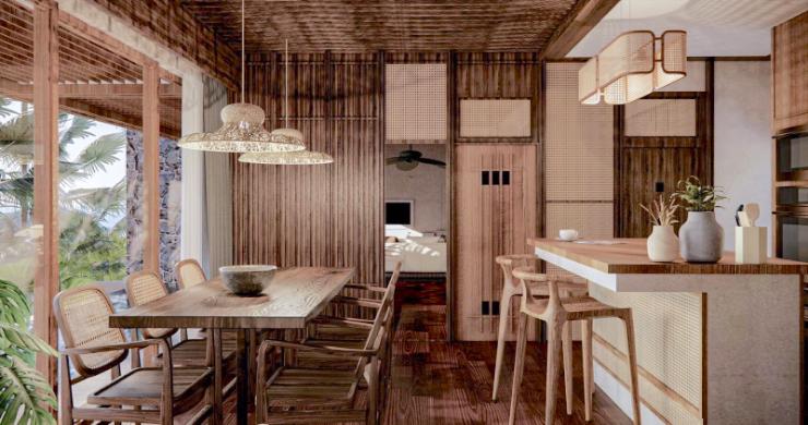 New Eco Chic 4 Bedroom Sea View Villas in Lamai-7
