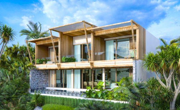 New Eco Chic 4 Bedroom Sea View Villas in Lamai