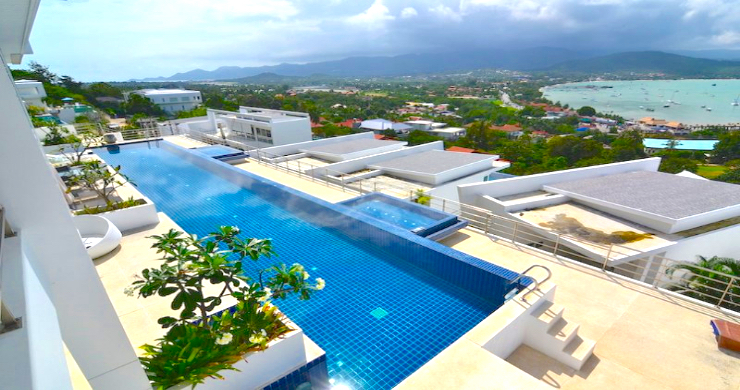 Modern 2 Bed Pool Sea-view Apartment in Big Buddha-9