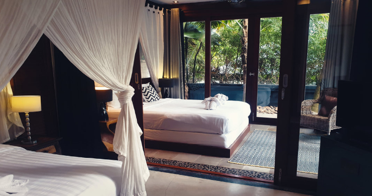 Stunning 3 Bed Bali Style Garden Villa in Bophut-14