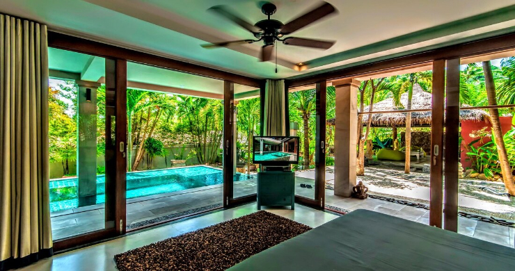 Stunning 3 Bed Bali Style Garden Villa in Bophut-11